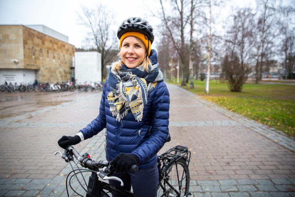 Lahden kaupungin kestävän liikkumisen projektipäällikkö Anna Huttunen