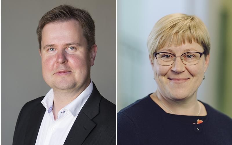 Kaksi kuvaa rinnakkain, toisessa on Jani Pitkäniemi ja toisessa Tanja Rantanen.