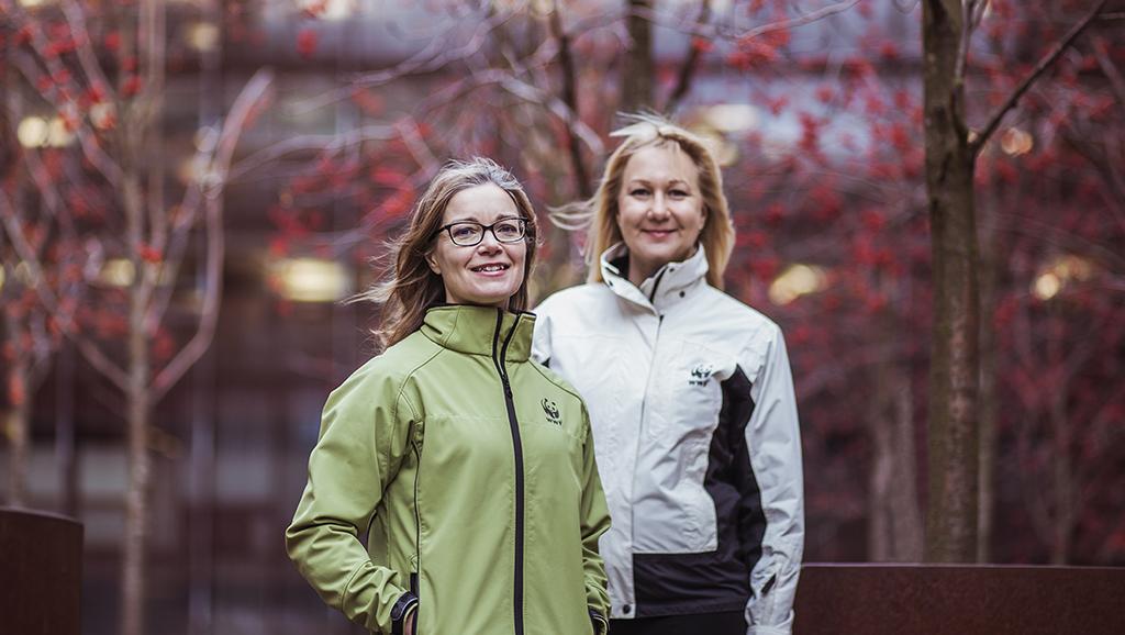 Hanna Seimola ja Mia Rahunen