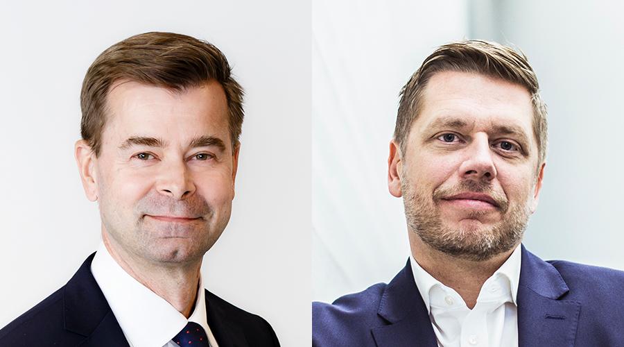 Kuvissa ovat Teppo Koivisto, Valtiokonttori ja Joakim Holmström, Kuntarahoitus.
