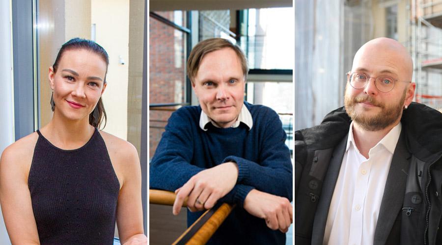 Kuvassa vasemmalta: Eija Kuoppa-aho, sivistystoimenjohtaja, Ähtärin kaupunki; Tuomas Pekkarinen, tutkimusprofessori, tutkimusohjaaja, VATT & Aleksi Kalenius, erityisasiantuntija, SOSTE.