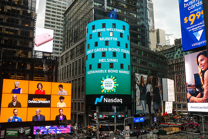 MuniFin at Nasdaq Times Square
